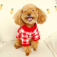 2019 Pet Dog Cat Clothes For Dogs Winter Warm Coat Classic Autumn Plaid 2 Colors 4 Size Sweater Christmas Clothing