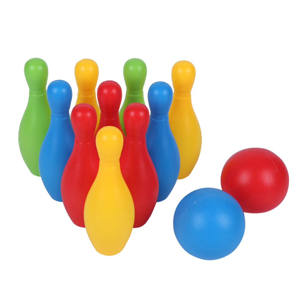 Colorful Parent Child Funny Smooth Sports Bowling Toy Set Early Teaching Games Kindergarten Educational Toddler Non Toxic Home