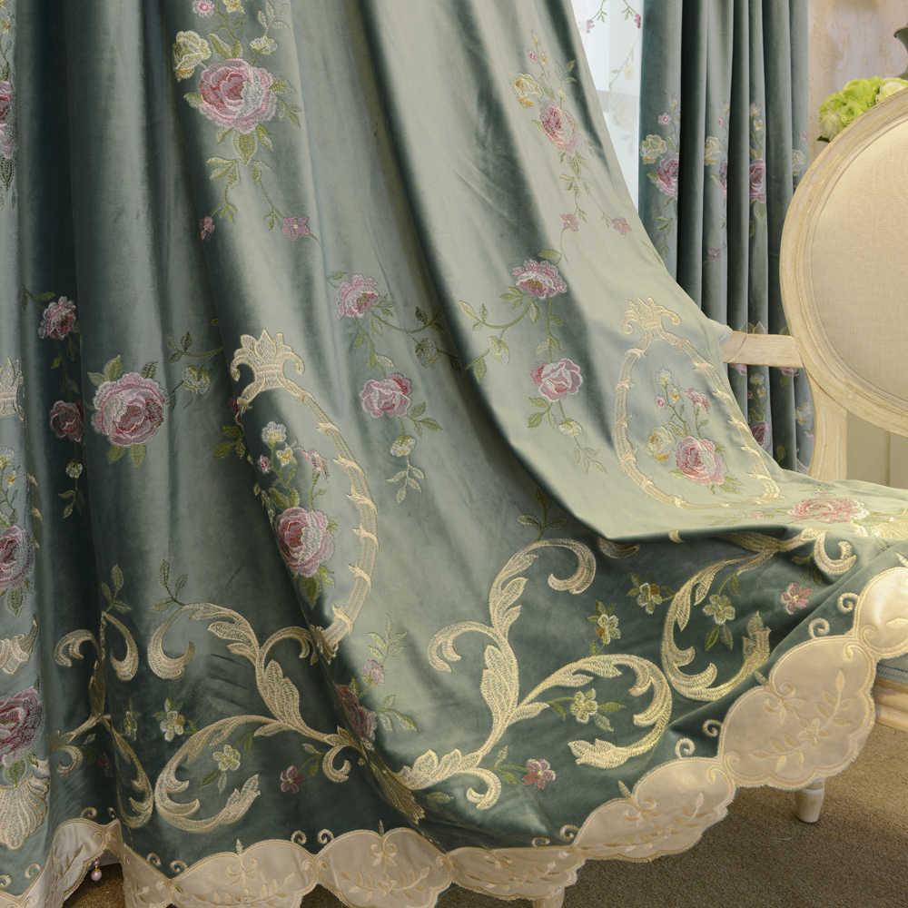 Европейский высококачественный голландский бархатный вышитый тканевый занавес для спальни гостиной декоративное окно портьеры роскошный Тюль WP424
