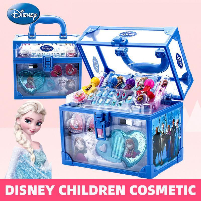 Disney congelado 2 elsa anna princesa fingir jogar brinquedo moda beleza água-solubilidade maquiagem conjunto menina presente de aniversário brinquedo para crianças