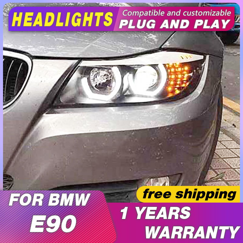 Headlight Car Styling Headlights For BMW E90 headlights 318i 320i 325i E90 Headlight LED Angel eyes for 318 320 325 Bi Xenon Len image