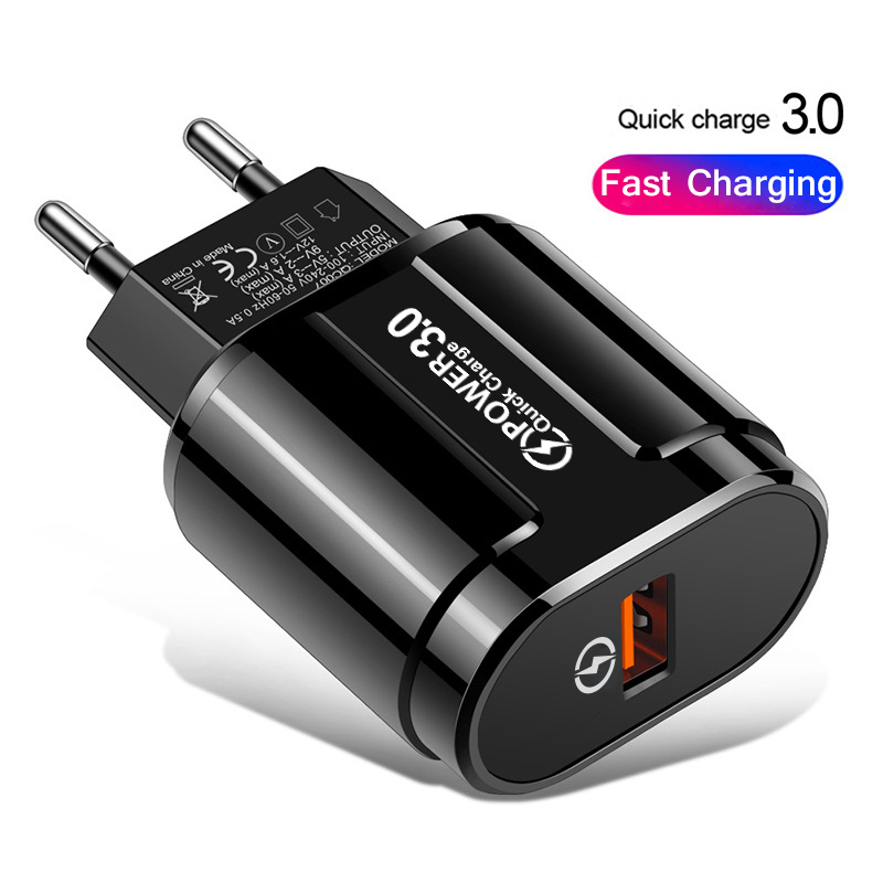 Quick Charger QC3.0 USB Charger EU US Wall Mobile Phone Charger Adapter for iPhone 11 XS MAX Fast Charging for Samsung
