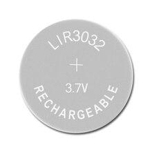 Литий ионный перезаряжаемый аккумулятор LIR3032 3,7 в 1 шт., Литиевые кнопочные встроенные аккумуляторы для монет, часовые элементы LIR 3032 заменяет CR3032