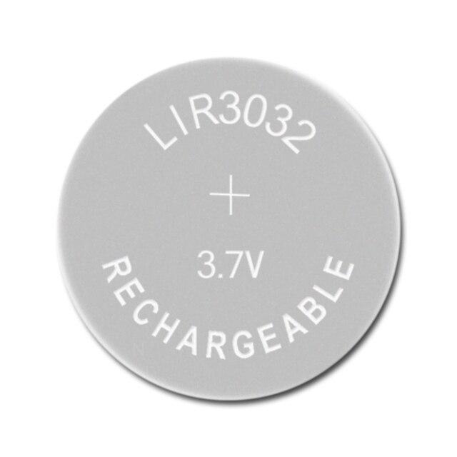 Li ion Batteria Ricaricabile LIR3032 3.7V 1 PCS Batterie a Bottone Al Litio Built in Della Moneta Delle Cellule Della Vigilanza Celle LIR 3032 sostituisce CR3032