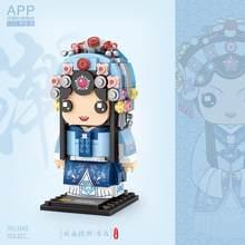 Loz tradição chinesa cultura mini blocos/loques 4 estilos jing ju figuras modelo bloco de construção educacional/coleção brinquedos diy
