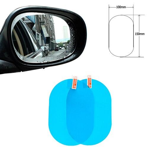 Автомобильное Зеркало окно прозрачная пленка анти-туман заднего вида зеркальная защитная пленка Водонепроницаемый автомобиля Стикеры 2 шт./компл - Название цвета: 100-150