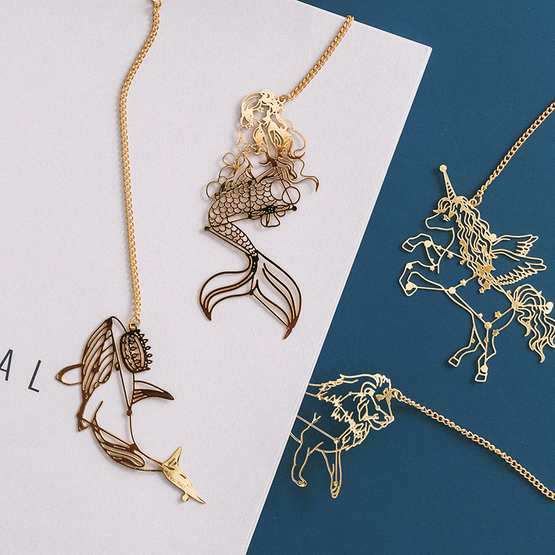 Cool Universe Hollow Out Metal Bookmark Delicate Stationery Gift 12*5.5cm