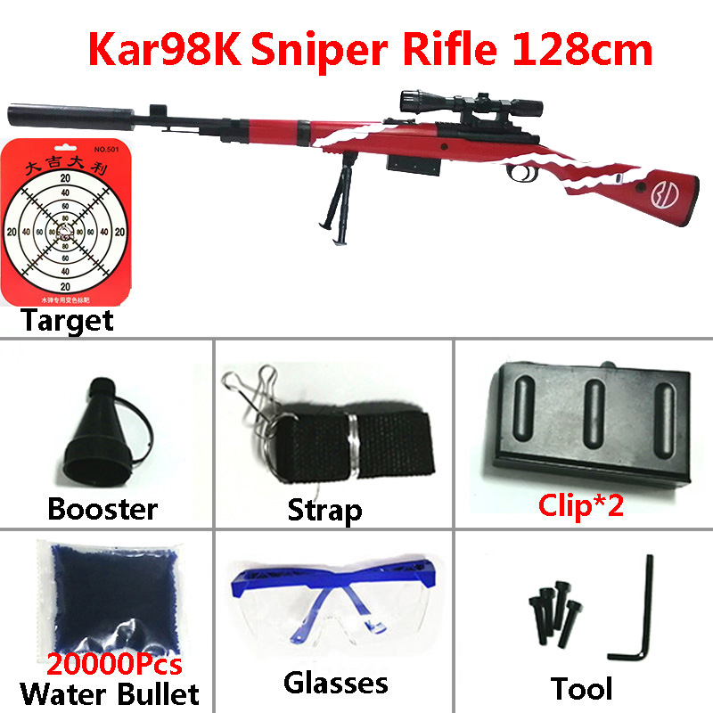 Image 2 - Toy Gun Sniper Rifle Kar98K AWM M24 Mini Airsoft Air Guns Safety Sight Water Bullet Shooting Boys Outdoor Toys Arms Weapon Gift-in Toy Guns from Toys & Hobbies