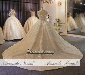 Image 3 - מדהים מלא ואגלי חתונת שמלת יוקרה 2020 מותג העבודה האמיתית אמנדה novias