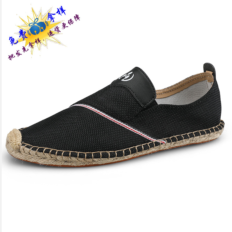 2019 New Style Spring Summer Linen Shoes Men's Canvas Shoes Korean style Breathable Casual Shoes Cloth Shoes Slip on 19168