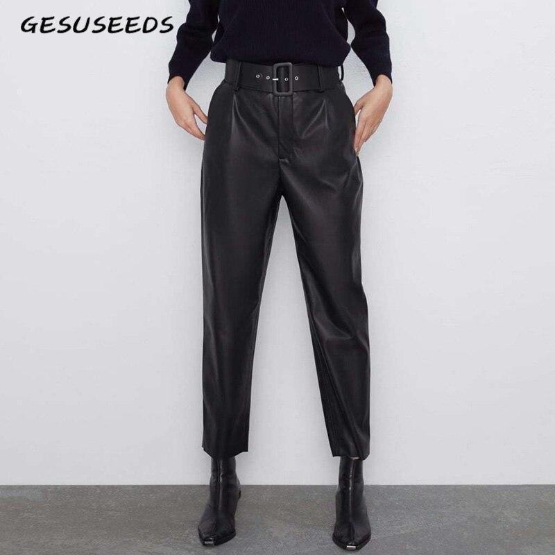 Formal Office Pants For Women Elegant Office Pants Trousers Korean Suit Trousers Ladies Elegant Women's Leather Pants Pencil