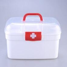 Boîte à médicaments familiale Portable en plastique, boîte à médicaments Portable, Kit de premiers soins, couches de médecine domestique, Classification