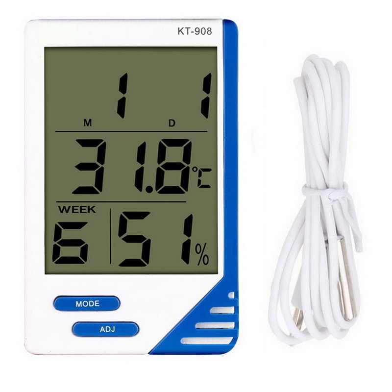 LCD Termometro Digitale Indoor Outdoor misuratore della temperatura CASA Igrometro co