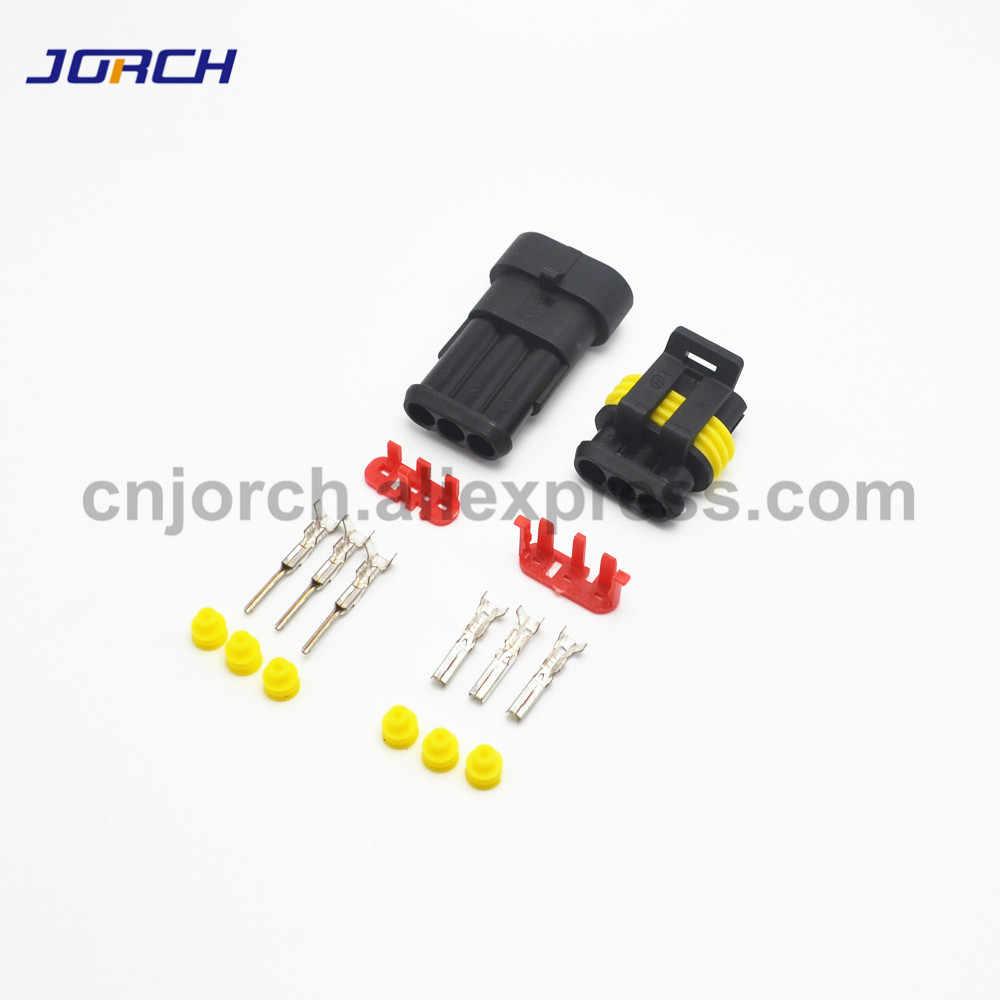 1 zestaw 1/2/3/4/5/6 Pin Way AMP Tyco Super Sealed złącze samochodowe wtyczka elektryczna terminale dla samochodów