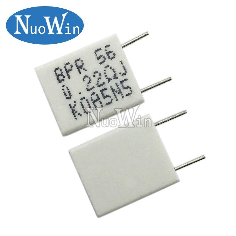 Неиндуктивный керамический цементный резистор BPR56 5 вт 0,01 0,05 0,1 0,15 0,22 0,25 0,33 ом 0,5 r 0.15R 0.22R 0.25R 0.33R 0.5R, 10 шт.