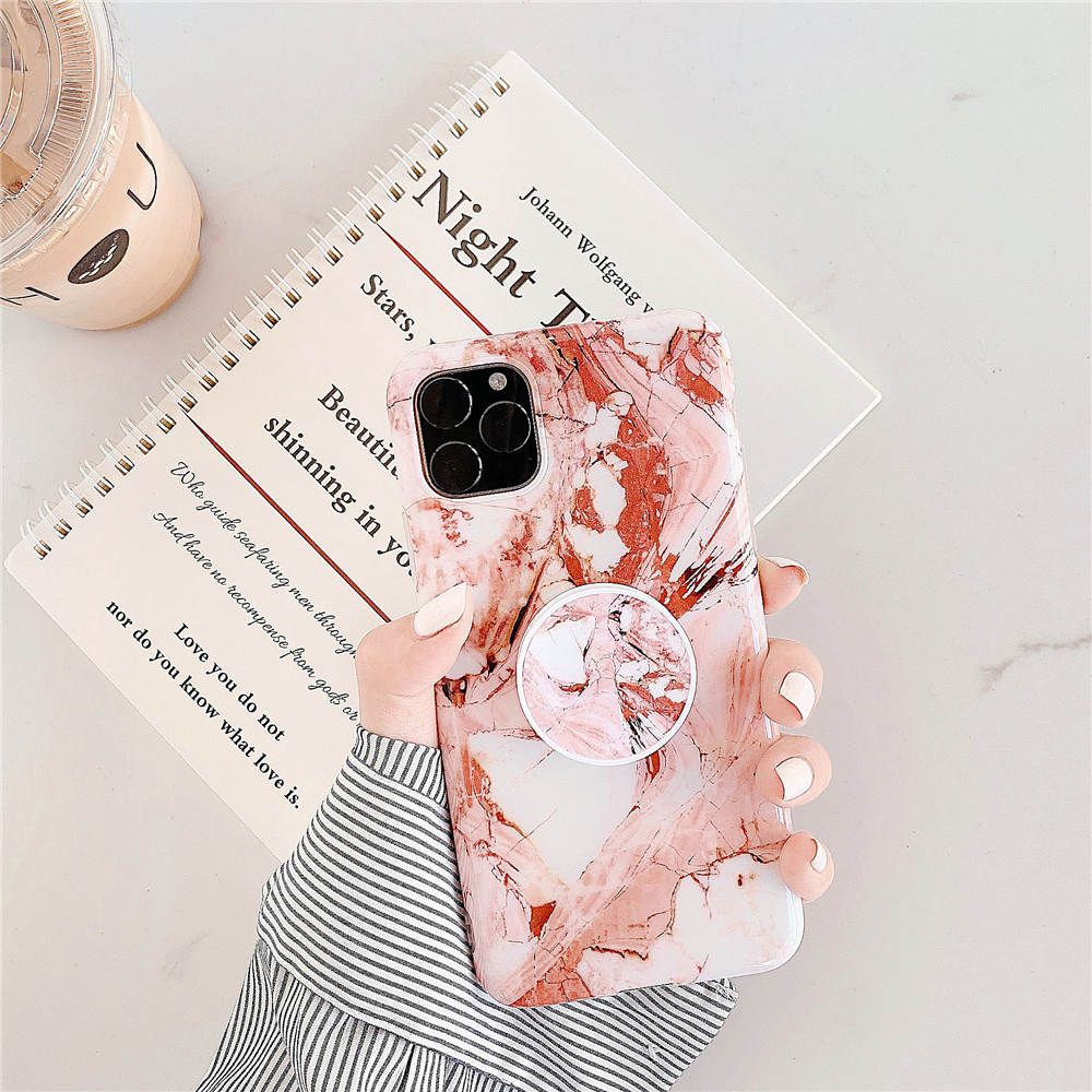 Luxury Marble Stand Phone Back Cover Shell For iPhone 11 Pro X XR XS Max 7 8 6 6S 18