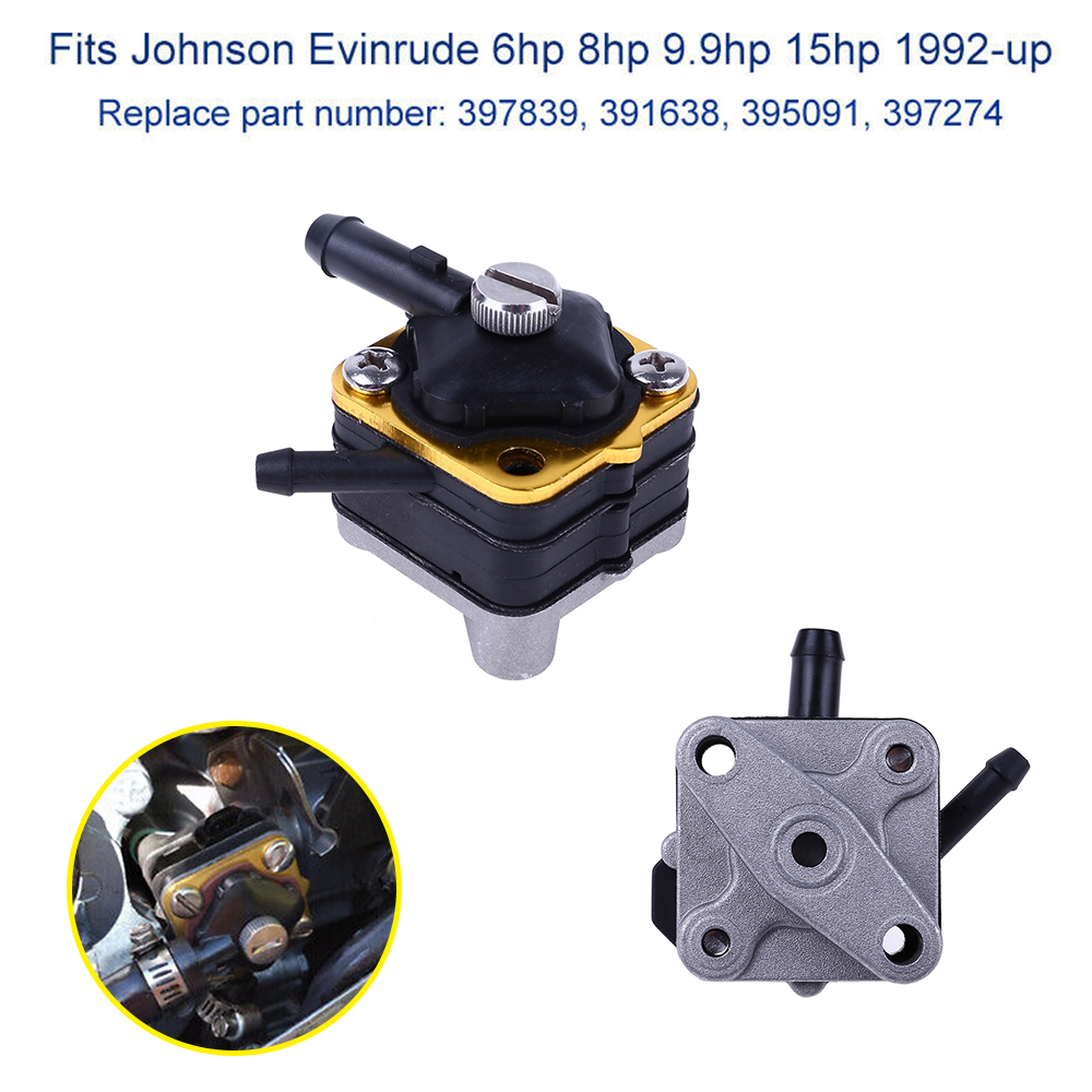 Fuel Pump+Gasket for Johnson Evinrude 6hp 8hp 9.9hp 15hp 397839 3957274 18-7350