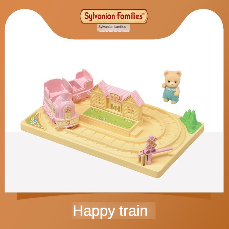 Sylvanian Families Toy Sylvanian Families Kindergarten Happy Small Train Children GIRL'S Play House Doll 5320