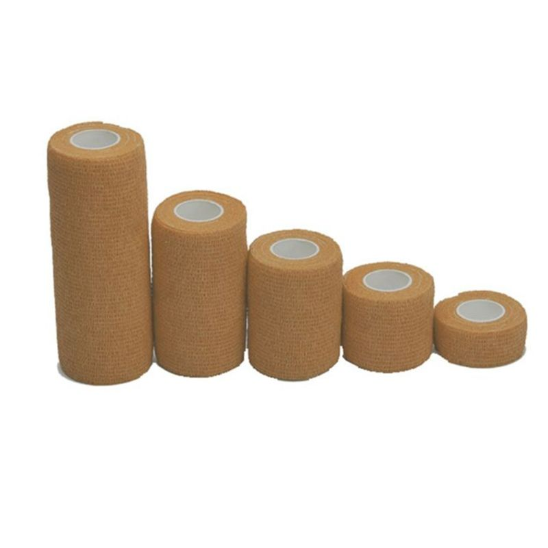 5Roll/Set Solid Color Self-Adhesive Bandage Non-Woven  Elastic Tape