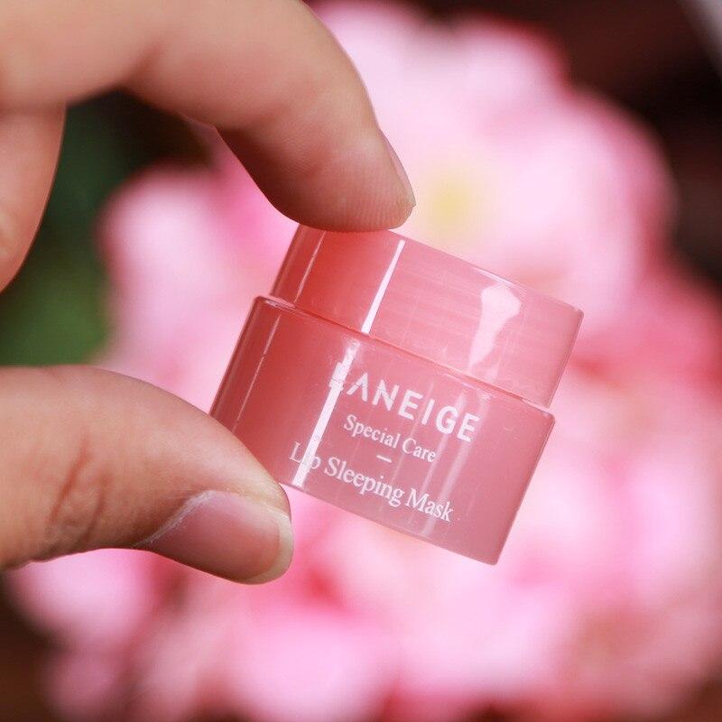 Korea lips care lip sleep mask night sleep hydrated maintenance lip balm pink lips whitening cream nourish protect 3g