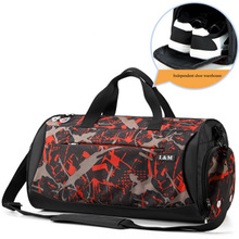 Men's fitness bag fashion women's yoga training bags dry and wet separation travel bag with shoe compartment luggage handbag