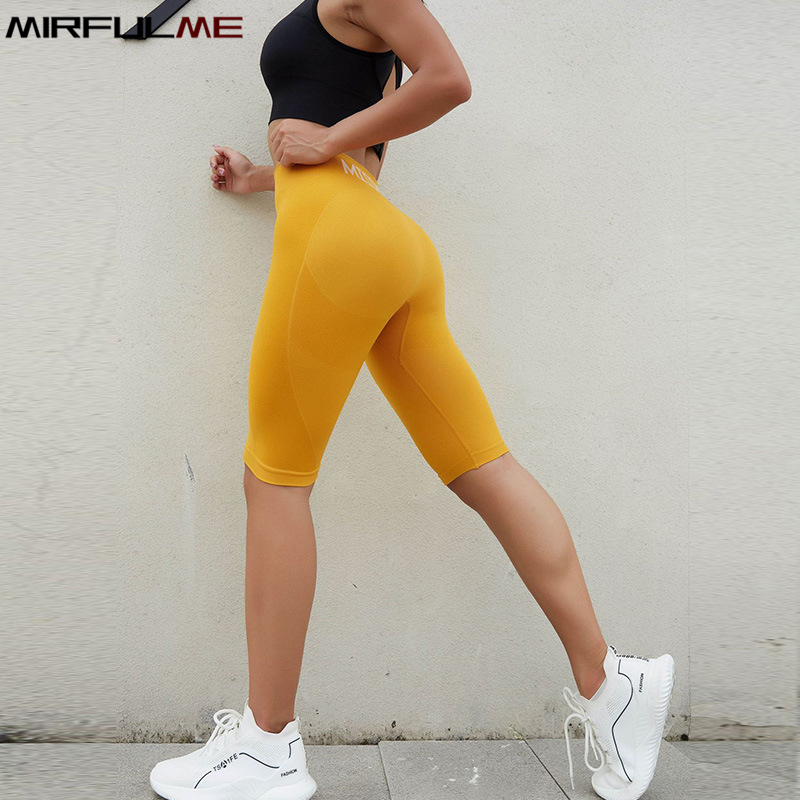 Energy Seamless Sport Leggings Women Crop Yoga Pant Knee Length Running Fitness Trousers Tummy Control Gym Leggings Short Tights