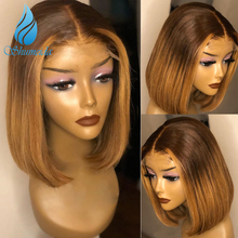Ombre Brown13*6 Lace Front Human Hair Wigs For Women 150% De