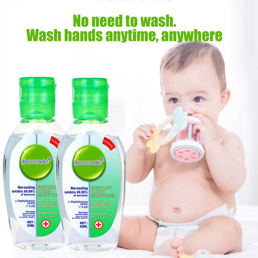 50ml Travel Portable Hand Sanitizer Gel Anti-Bacteria Moisturizing Liquid Disposable No Clean Waterless Antibacterial Hand Gel