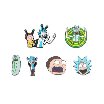 Genius Mad Scientist Badge Buttons Brooch Anime Classic Cartoon Icons Style Enamel Pin Lovers Denim Shirt Lapel Pins Brooches image