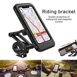Image 2 - Waterproof Bicycle Phone Holder Universal Bike Motorcycle Handlebar Clip Stand Mount Bracket For iPhone Huawei Xiaomi IP68