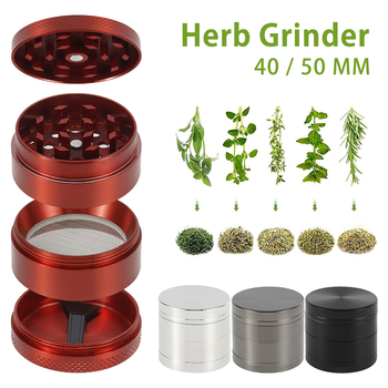 4-Layer Grinder Spice Grass Herb Grinder Smoke Crusher Handmade Tobacco Weed Grinder Muller Mill Pollinator Smoking Accessories herb grinder machine metal for smoking weed hand muller grinder weed for glass water pipe