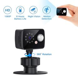 8 Hours mini Cameras 1080P Small Home Security Surveillance Cam Video Recorder with Motion Detection Night Version hidden card