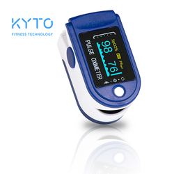 KYTO Fingertip Pulse Oximeter Blood Oxygen Saturation Finger Heart Rate Monitor with OLED Screen Display