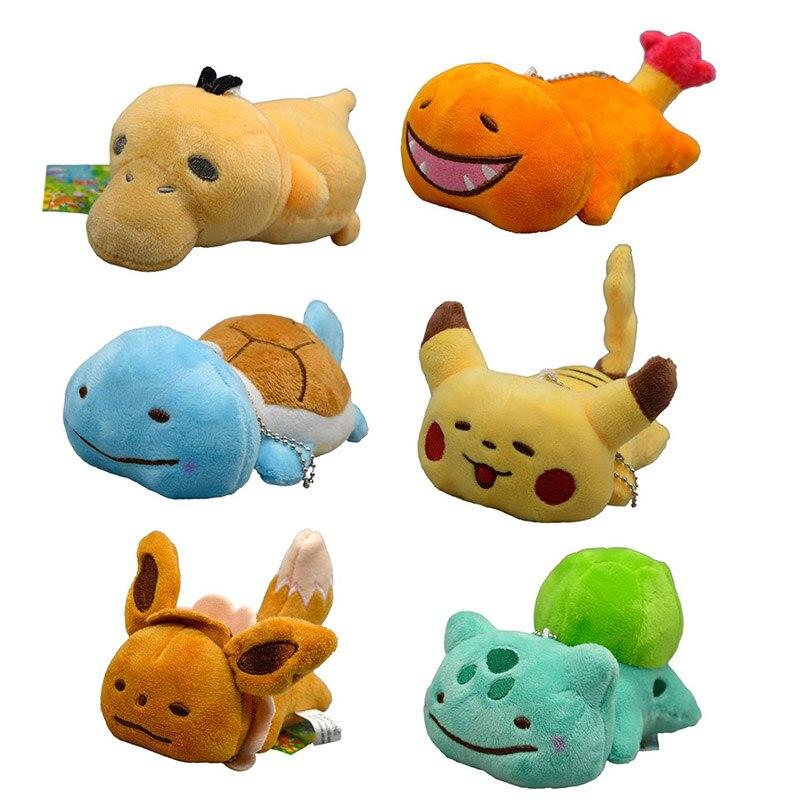 takara-tomy-stuffed-toy-soft-new-font-b-pokemon-b-font-pikachu-eevee-plush-doll-keychain-bag-pendant-kids-gifts-10cm-6pcs-set