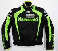 Motorcycle Motorbike Jacket for KAWASAKI Racing Team Off Road Moto Riding Coat with Protectors