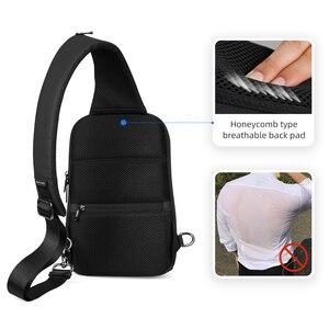 Image 5 - סימן Ryden חדש נגד גנב קלע תיק עמיד למים גברים Crossbody תיק Fit 9.7 אינץ Ipad אופנה כתף תיק