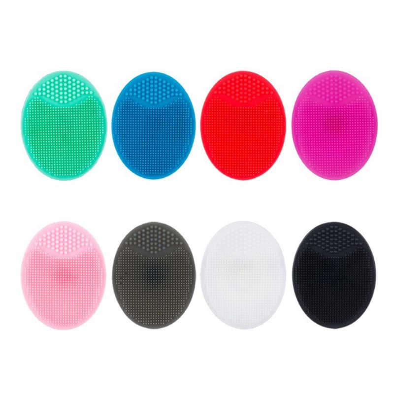 1 Pcs Baru Kualitas Premium Lembut Silika Gel Pembersih Pad Mencuci Wajah Wajah Pengelupasan Sikat Kulit Scrub Pembersih Alat Pembersih bantalan