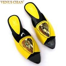 Yeni varış nijeryalı kadın parti pompaları taklidi ile süslenmiş artı boyutu kadın ayakkabı 43 bayan resmi elbise ayakkabıları üzerinde kayma İtalya ayakkabı
