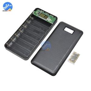 Image 2 - 3 USB 7x18650 batterie bricolage batterie externe support de la boîte boîtier LCD affichage batterie Charge pour téléphone portable PC avec lampe de poche LED