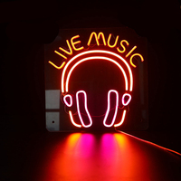 custom neon sign Live Music LED Flex Neon Bar and Beer Sign Shop Beer Bar Pub Man Cave Business Glass Neon Lamp Light