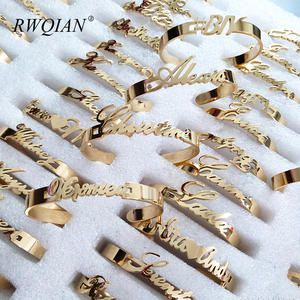 Custom Name Bracelet Personalized Stainless Steel Nameplate Bracelets DIY Baby Accessories Charm Family Jewelry for Women Men