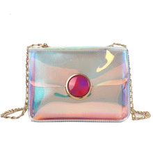 BELLELIFE Fashion Laser Sparkling Shoulder Bag for Women Chain Sequin Transparent Waterproof Female Messenger Bags Ladies Clutch