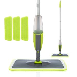 Image 1 - Magic Spray Mopชั้นไม้Reusableแผ่นไมโครไฟเบอร์360องศาบ้านWindowsห้องครัวMop Sweeperไม้กวาดเครื่องมือทำความสะอาด