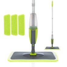 Швабра с распылителем Magic Spray, швабра с многоразовыми насадками из микрофибры, ручка 360 градусов, Швабра для окон дома, кухни, щетка, инструменты для уборки