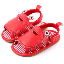 Infant Baby First Walkers Shoes Newborn Boys Shoes Casual Baby Boy Sandals Clogs Toddler Soft Sole Shoes Sandals Summer ##3(China)