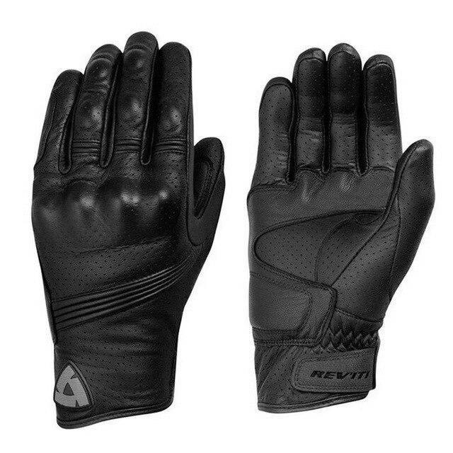 Revit перчатки для мотогонок Мотоциклетные Перчатки Перфорированные дышащие кожаные перчатки