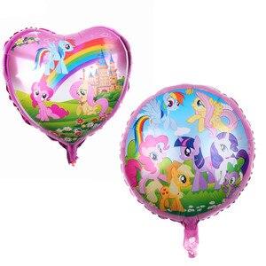 Фольгированные шары my little pony с 18-дюймовыми радужными цифрами, украшение для девочек, детский праздник
