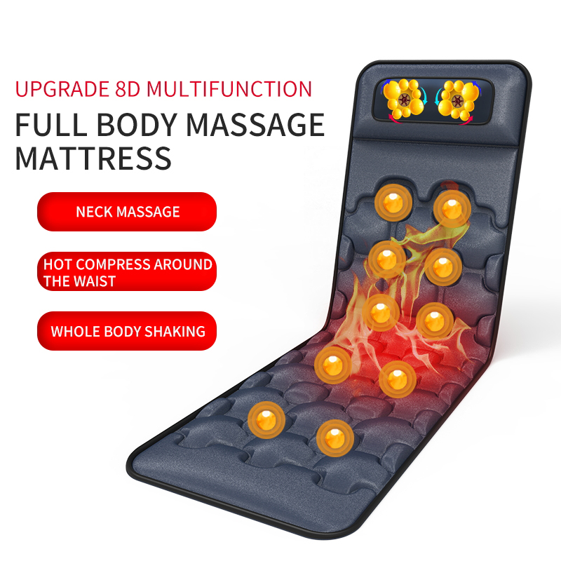 Electric Neck and Back Massager Pillow Pads Vibrator Hot Full Body Massage Cushion Health Care Equipment Home Office Pain Relief