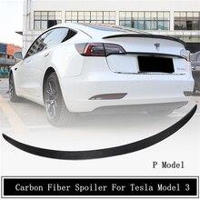 Спойлер из углеродного волокна для Tesla Model 3, 2019, 2020, 2021, 2022, крыло, выступ спойлеры, высокое качество, автомобильные аксессуары P