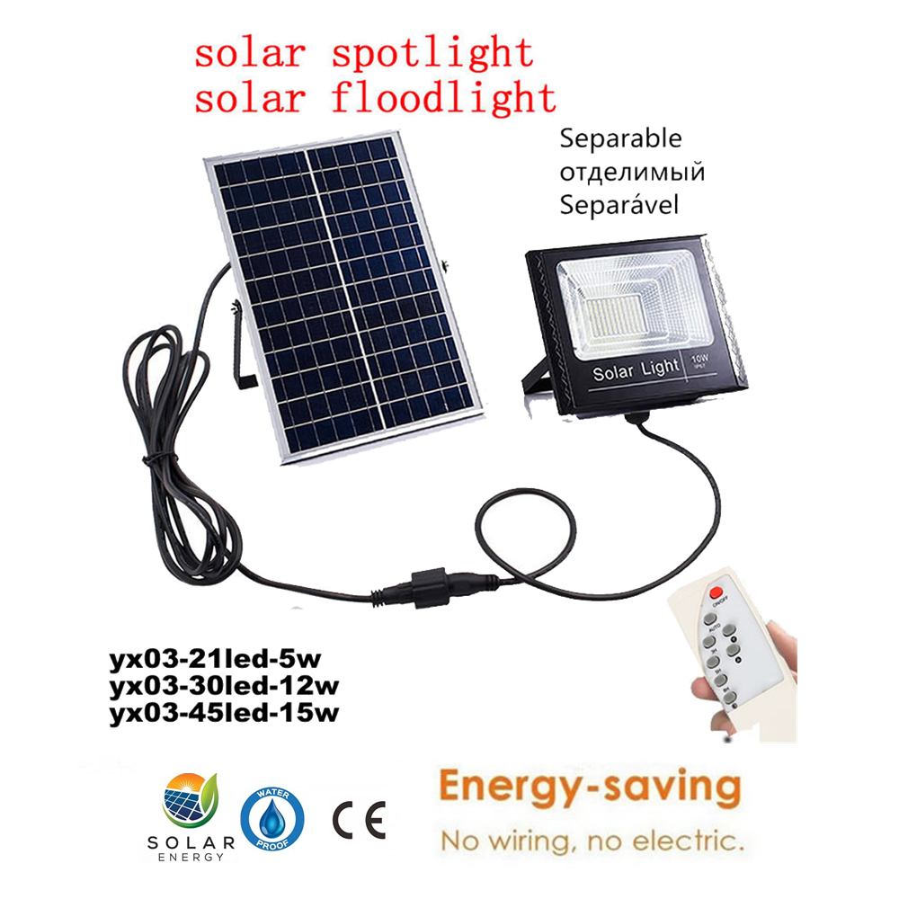 Solar Rechargeable Fence lamp LED LED Solar light Outdoor Garden light Waterproof night light for Gate Door Courtyard remote tim